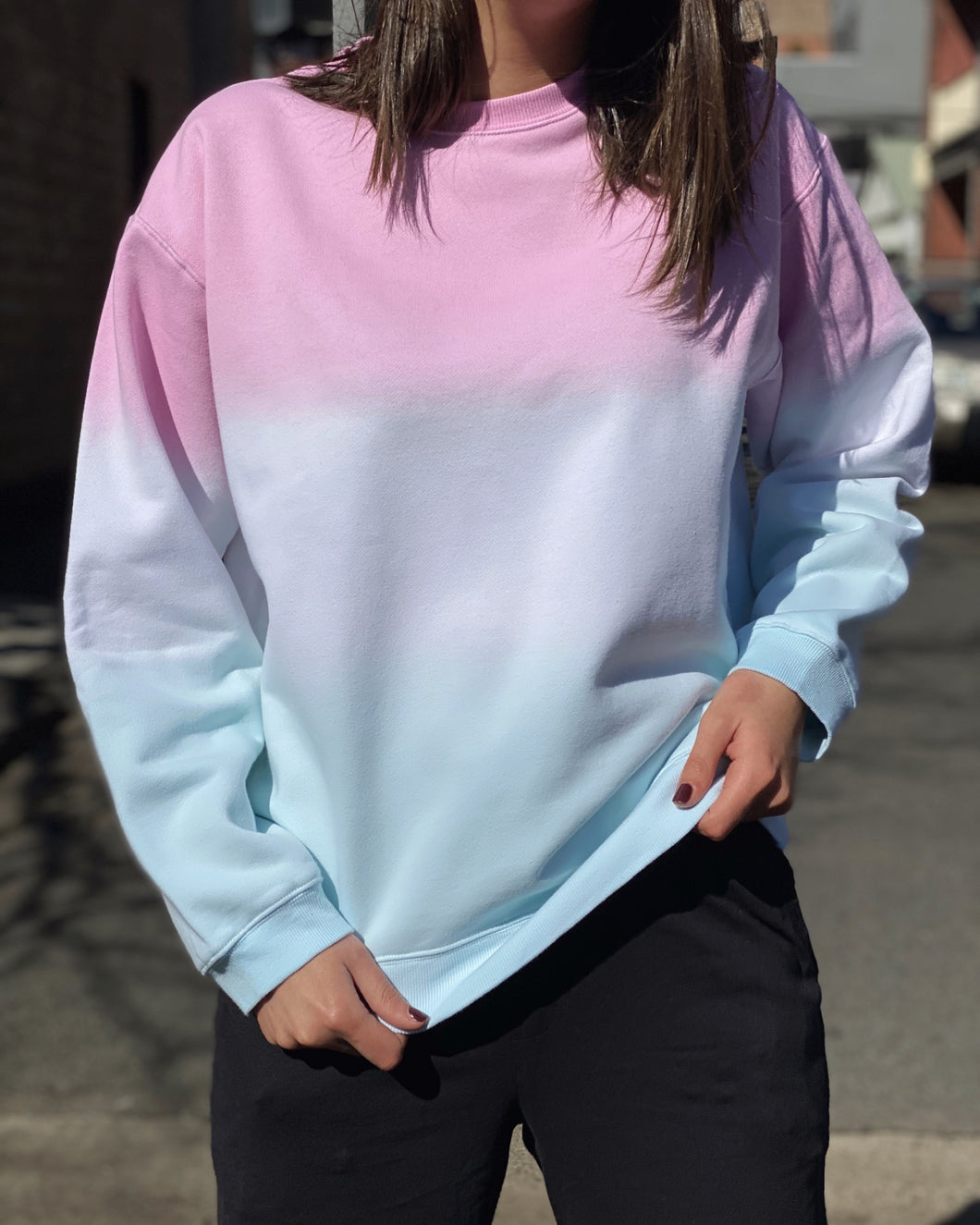 Pink Ombré Sweat