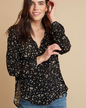 Load image into Gallery viewer, Capri Button Down Shirt in Black by Bella Dahl