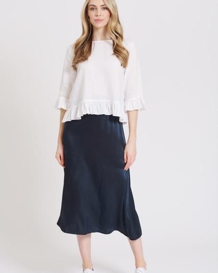 Silky Sundae Skirt in Navy by Alessandra