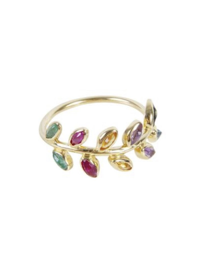 Rainbow Vine Ring by Fairley