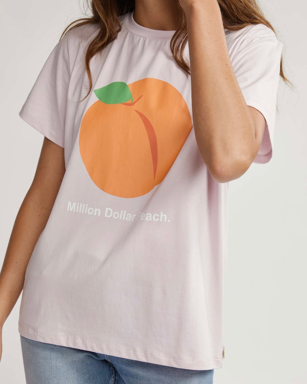 Million Dollar Peach Tee by Binny