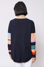 Load image into Gallery viewer, Candy Stripe Sweater in Navy by Alessandra