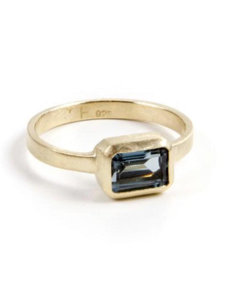 London Blue Topaz Deco Ring by Fairley