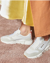 Load image into Gallery viewer, Zara Sneaker in Natural & Orange By Department of Finery