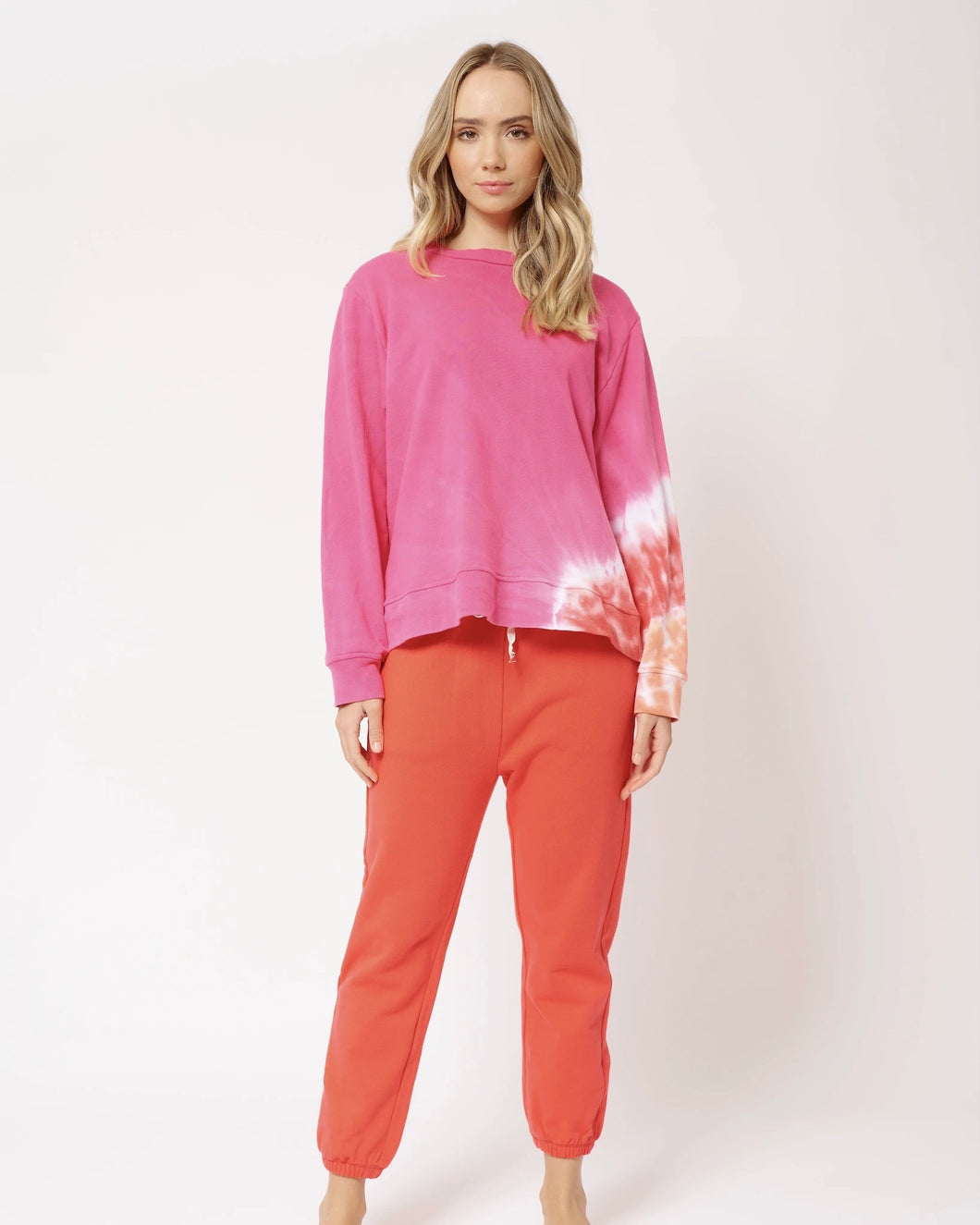 Lollipop Swirl Sweat in Hot Pink by Alessandra