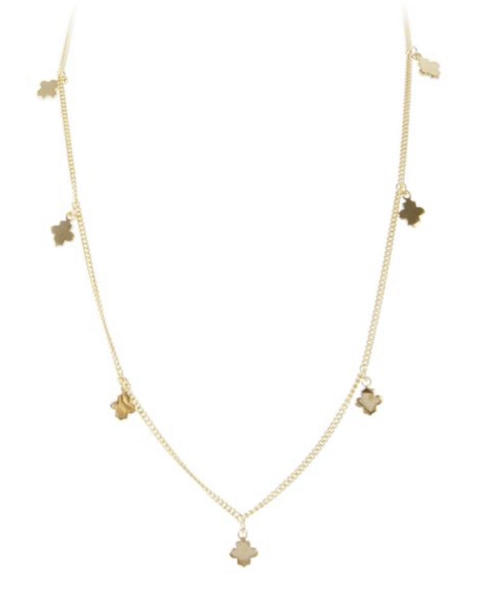 Gold Clover Charm Necklace by Fairley