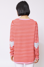 Load image into Gallery viewer, L'amour Stripe Cashmere Sweater Rouge by Alessandra