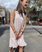 Load image into Gallery viewer, Sassy Dress in Rainbow by Alessandra