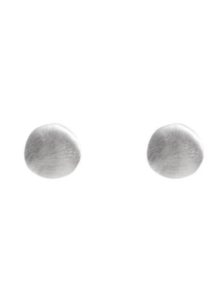 Silver Disc Studs by Fairley