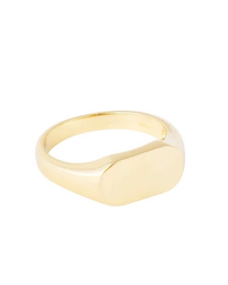 Classic Gold Signet Ring by Fairley