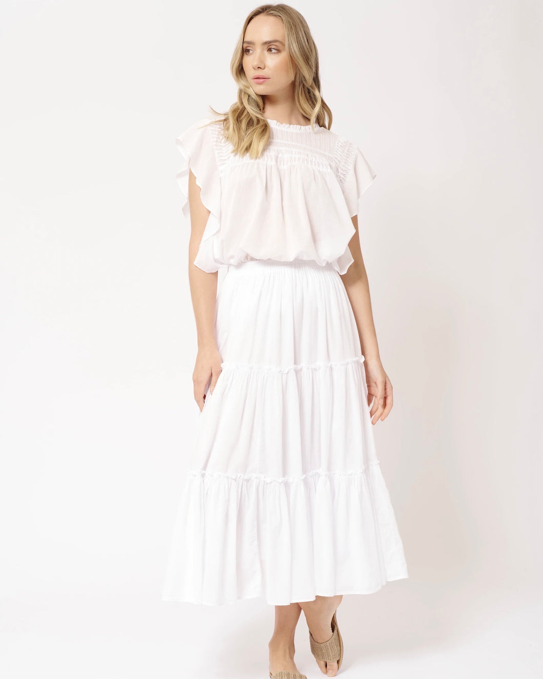 Ipanema Skirt in White by Alessandra