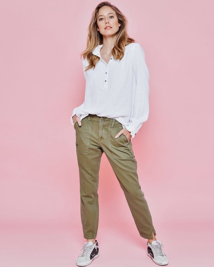 Soho Washed Cargo Pants by Kireina