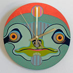 Load image into Gallery viewer, Green Sloth Clock by Jennifer Davis