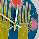 Load image into Gallery viewer, Green Thumbs Clock by Jennifer Davis