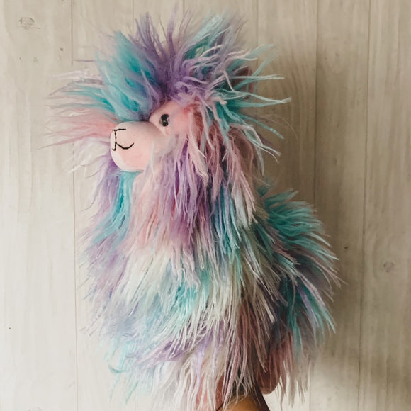 Jellycat Blue Pink Purple Lovely Llama Soft Toy