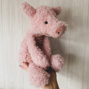 Jellycat Pink Wurly Pig Soft Toy