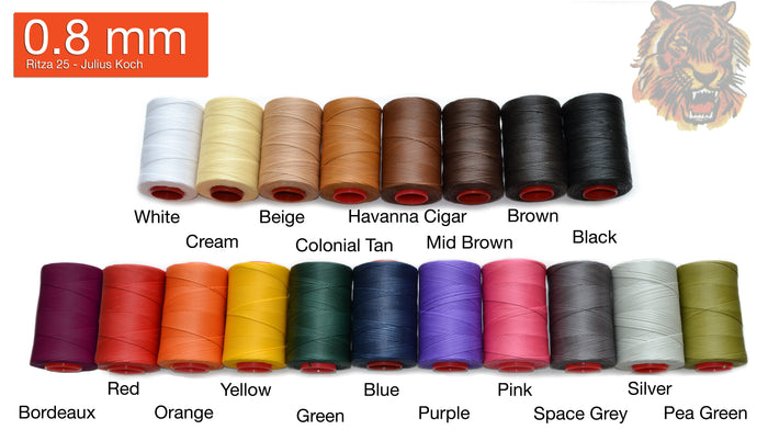 "0.8mm Ritza 25 Polyester ""Tiger"" Thread - (25M Length) **If Buy 5 get 1 free"