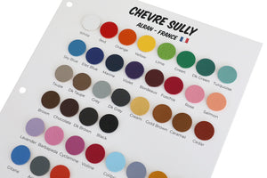 "Alran - Chevre Chagrin ""Sully"" - Color Sample Book"