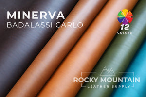 "Badalassi Carlo 🇮🇹- Minerva Smooth ""Vacchetta"" Veg Tanned Leather (16 Colors) - 4.5oz (1.8mm)"