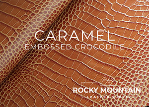 Embossed Crocodile 🇮🇹 - Veg Tanned Leather - 2.5oz (1.0mm)