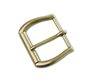 "Belt Buckles - Italian  ""Gaucho"" Roller Single Prong (Solid Brass)"
