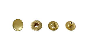 Hasi-Hato - Premium Japanese Snaps -  Segma / Spring / Glove Buttons - Solid Brass
