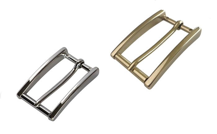 "Belt Buckles - Italian  ""High Roller"" Slim Roller Bar (Solid Brass)"