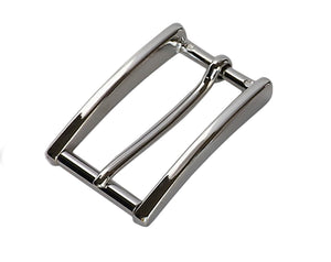 "Belt Buckles - Italian  ""High Roller"" Slim Roller Bar (Solid Brass - Nickel Free)"