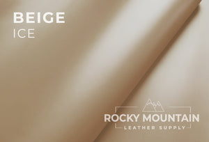 Ice  🇫🇷 - Smooth Grain Calfskin Leather - 5oz (2.0mm) - Made in France