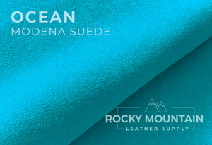 "Modena - Italian ""Classic"" Suede Leather - Premium Tight Grain - 3.5oz (1.4 mm)"