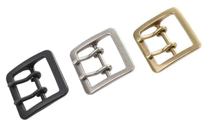 "Belt Buckles -  Japanese ""Tetra"" Double Prong (Solid Brass)"
