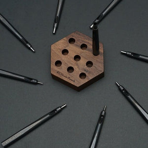 KS Blade Punch - 9pc Premium Hole Punch Set (+ Wood Rack)