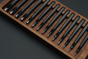 KS Blade Punch - 14pc Premium Hole Punch Set (+ Wood Rack)