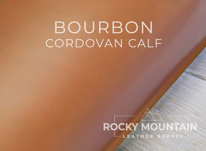 Luxury Cordovan Calf 🇪🇺- Calfskin Leather - 3.5 oz (1.2-1.4mm) * Calf Finished like Shell Cordovan