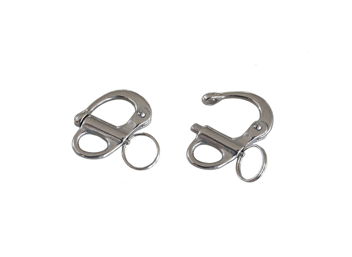 "Key Ring - ""Quick Release"" Hook - Stainless Steel"