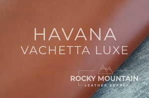 Vachetta Luxe 🇫🇷- Natural Veg Tan Leather - 5oz (2.0mm) - Made in France