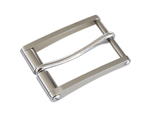 "Belt Buckles - ""Ambassador"" Single Prong Roller (Stainless Steel)"