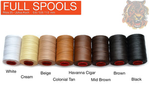 "0.6 / 0.8 / 1.0 / 1.2 mm - Ritza 25 Polyester ""Tiger"" Thread -   Full Spool - Rocky Mountain Leather Supply"