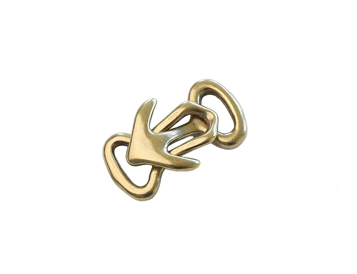 "Bracelet Clasp - Japanese ""Anchor & Hook"" - (Solid Brass)"