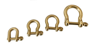 "Japanese ""Shackle"" Hardware - (Solid Brass)"