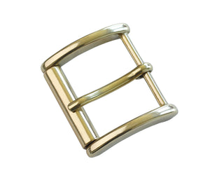 "Belt Buckles - Italian ""Traveller"" Roller Single Prong (Solid Brass)"
