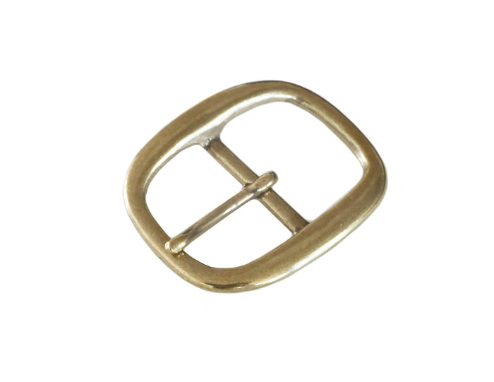 "Belt Buckles - Japanese ""Rounded""  Single Prong (Solid Brass)"