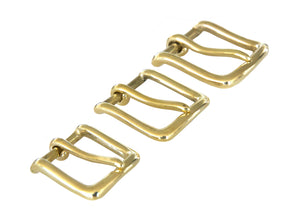 Belt Buckles - Diplomat Single Prong (Solid Brass) - Rocky Mountain Leather Supply