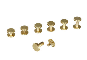 "Chicago Screws - ""Flat Beveled"" Design - Solid Brass (10-pack)"