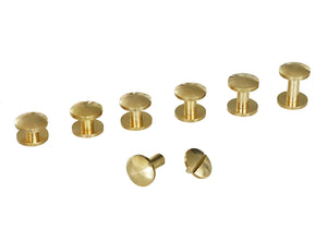 "Chicago Screws - ""Domed"" Design - Solid Brass (10-pack)"
