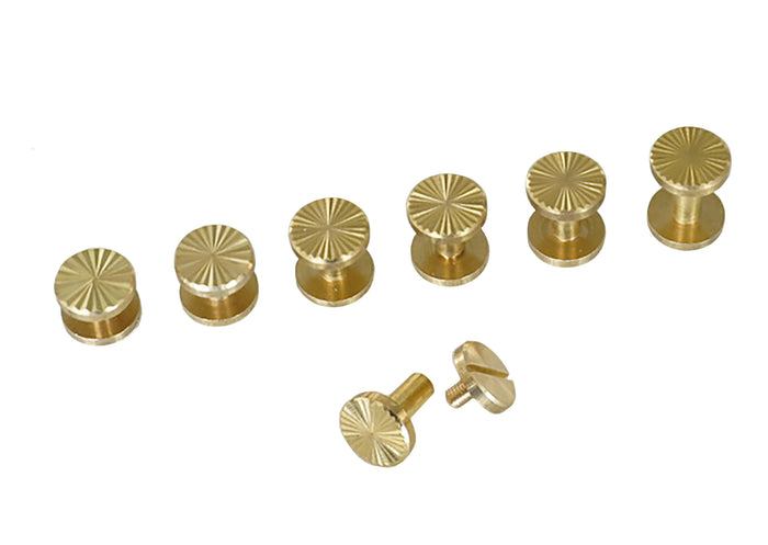 "Chicago Screws - ""Star"" Design - Solid Brass (10-pack)"