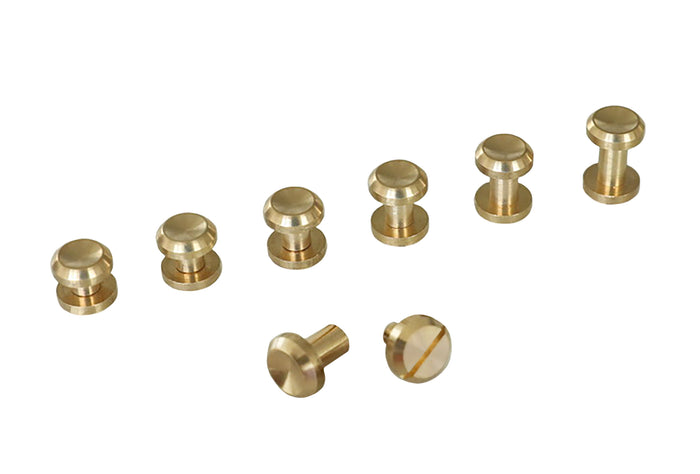 "Chicago Screws - ""Crater"" Design - Solid Brass (10-pack)"