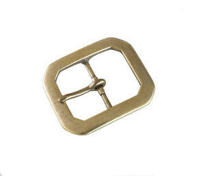 "Belt Buckles - Japanese ""Octogonal""  Single Prong (Solid Brass)"