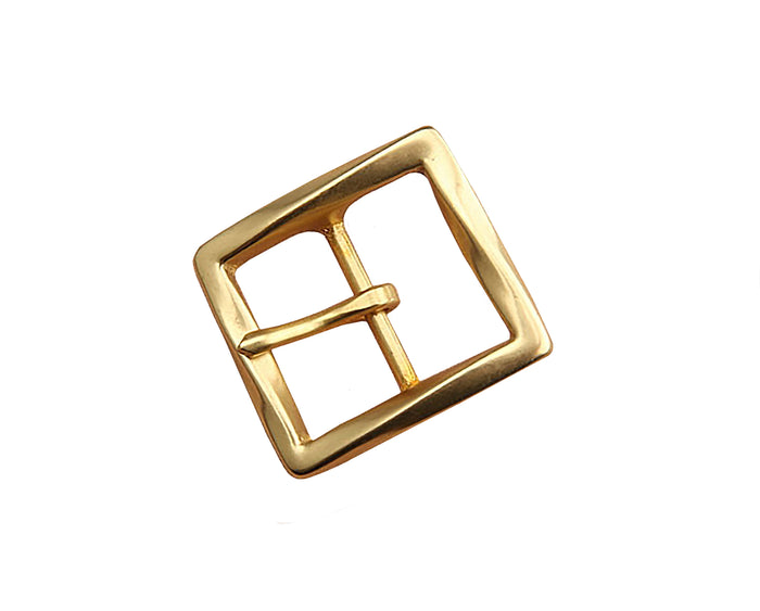 "Belt Buckles - ""Twist"" Single Prong (Solid Brass)"