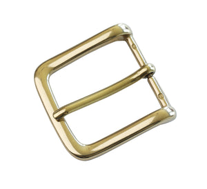"Belt Buckles - Italian  ""Explorer Slim"" Single Prong (Solid Brass)"